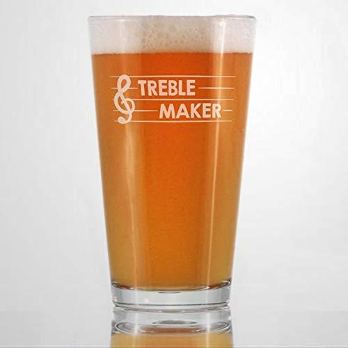 Treble Maker Glass for Cute Funny Music Teacher Present for Women And Men Fun Unique Musical Decor Wine Glasses Durable…