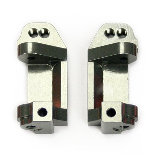 Atomik RC Alloy Caster Block, Grey fits the Traxxas 1/10 Slash and Other Traxxas Models - Replaces Traxxas Part 3632 (Traxxas Aluminum Caster Blocks)