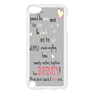 High-quality Case for iPod touch5 w/ I Love You to the Moon and Back image at Hmh-xase (style 5)