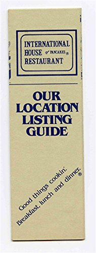 IHOP International House of Pancakes Our Location Listing Guide 1986