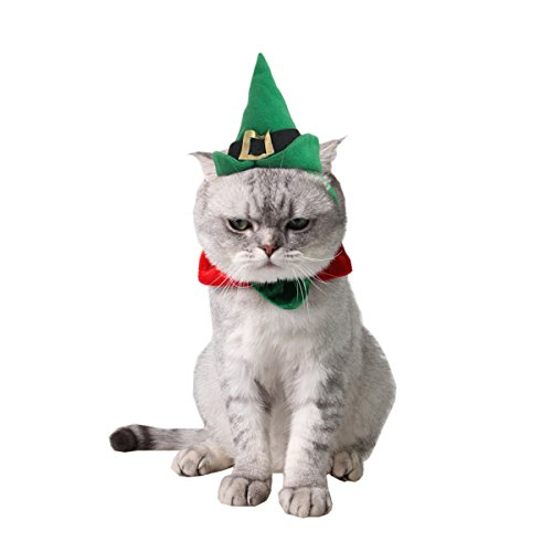Namsan Pet Cat Hat Halloween Costume With Beautiful Tie Christmas Small Dog (Christmas Dog Costumes)