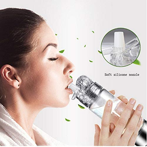 JKYQ Elektrolytisches wasserstoffreiches Wasser Trinkhalm Glas Kristallglas Elektrolyse hohe Konzentration Wasserbecher Intelligent Negative Ionen Tragbarer Gesundheits Becher