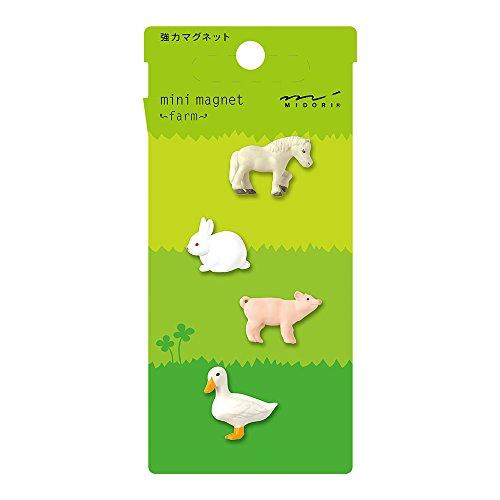 Midori Mini Magnet, Farm Animals (49757006)