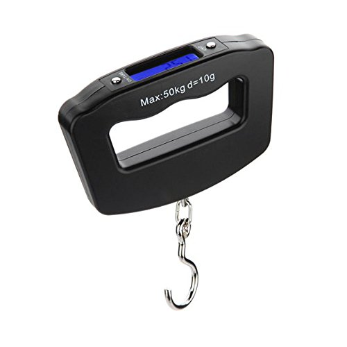 Aottop Portable LCD Home Electronic Digital Fish Hanging Luggage Weight Hook Scale...
