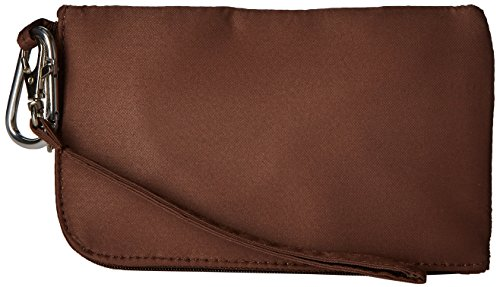Cell Phone Wallet/Wristlet- Chocolate Brown by Charm14