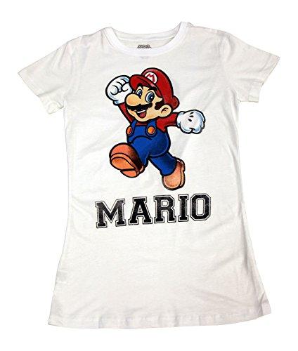 Nintendo Super Mario 1Blanc Juniors T-shirt pour homme