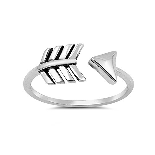 .925 Sterling Silver Arrow Wrap Style Ring (Arrow Ring Wrap)