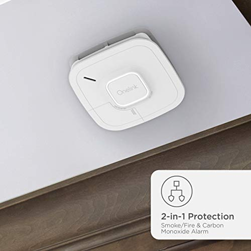 Onelink Smoke Detector and Carbon Monoxide Detector | Battery Powered Works with Alexa | First Alert