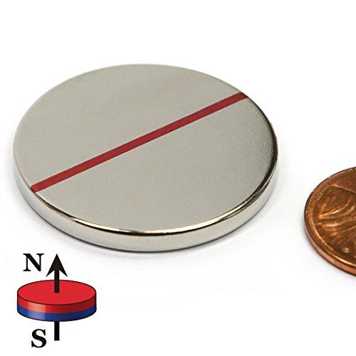 CMS Magnetics Disc Magnet Neodymium Grade N52 2 x 1 212 LBS Pull School Home Science Industry 1 pack