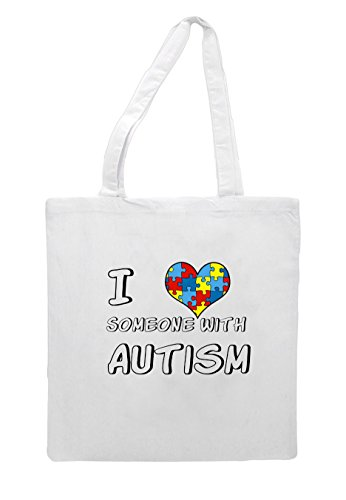 Tote Someone Shopper Love Awareness White Autism With I Bag wPzFXAx