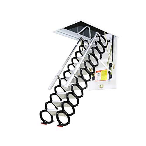 Metal Retractable Ladder for Loft Home Folding Step Ladder Attic pulldown Ladder Hinge 5ft-11ft