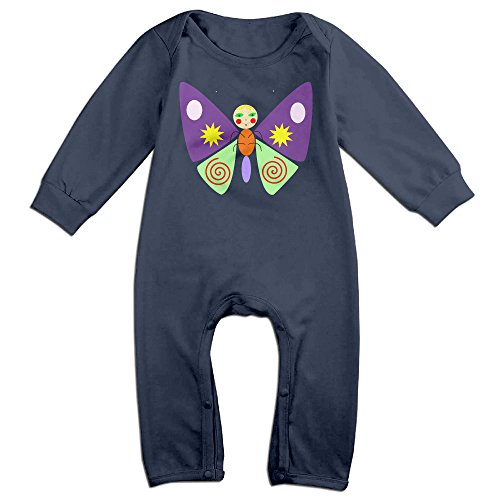 Audrey Hepburn Costume Toddler (VanillaBubble Cute Butterfly For 6-24 Months Toddler Funny Romper Navy Size 12 Months)