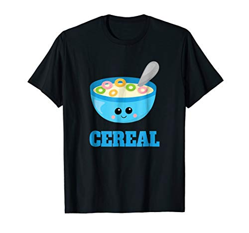 Cute Cereal & Milk Couples Halloween Costume Late Lazy Shirt