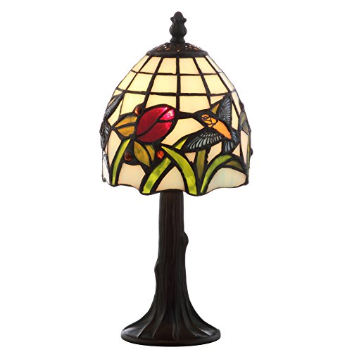 Decorative Touch Lamp - JONATHAN Y JYL8014A Hummingbird Tiffany-Style 12