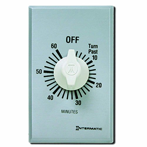 Intermatic FF60MC Countdown Timer, Brushed Metal Finish