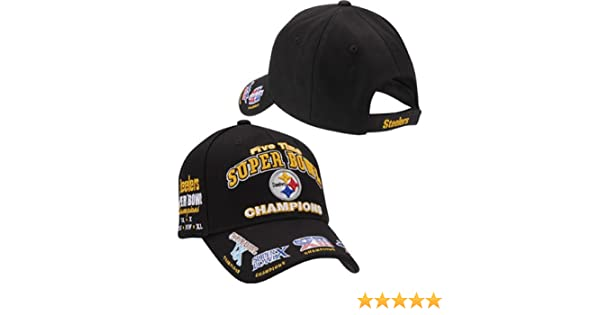 ... wide range 8a47c a7a47 Amazon.com Pittsburgh Steelers Cap - 5 Time Super  Bowl Champions ... 8feb598ad