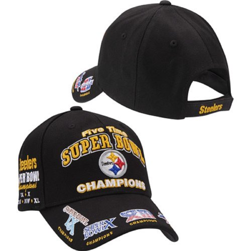 Pittsburgh Steelers Cap - 5 Time Super Bowl Champions Reebok NFL Hat
