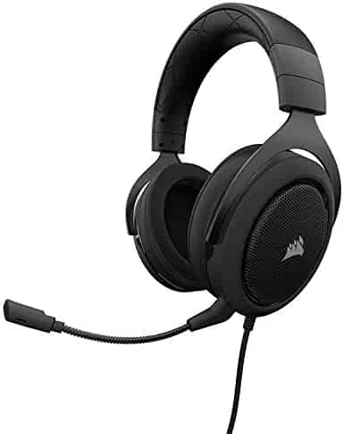 CORSAIR HS50 - Stereo Gaming Headset - Discord Certified Headphones - Works with PC, Mac, Xbox One, PS4, Nintendo Switch, iOS and Android – Carbon