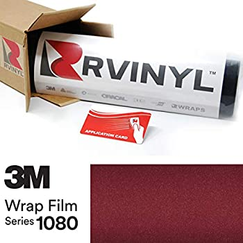 3M 1080 GP99 Gloss Black Rose 5ft x 1ft W/Application Card Vinyl Vehicle Car Wrap Film Sheet Roll