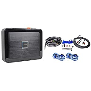 "Package: Alpine PDX-V9 5-Channel 900W RMS Class ""D"" Amp+Rockville RWK4CU 100% Copper Full-Spec 4 AWG Car Amp Installation Kit+(2) Rockville RTR172 17 Ft 100% Copper 2-Channel Twisted Pair RCA Cables"