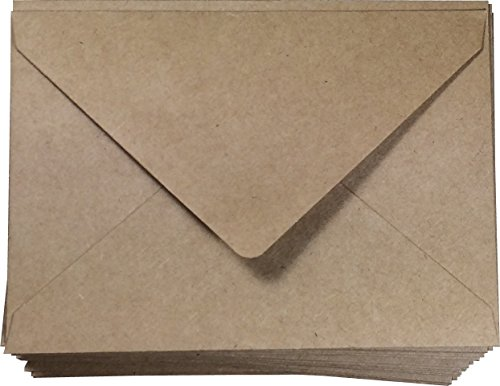 - A4 Brown Envelopes 100 Pcs Kraft 4 x 6 | Invitations and Announcements | Card and Photo | 4 1/4