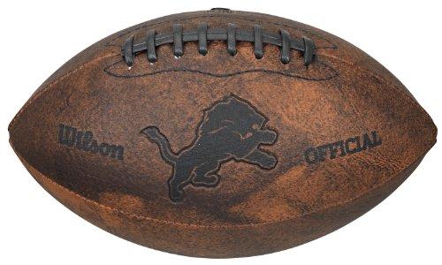 Nfl Lions Leather Detroit - NFL Detroit Lions Vintage Throwback Football, 9-Inches