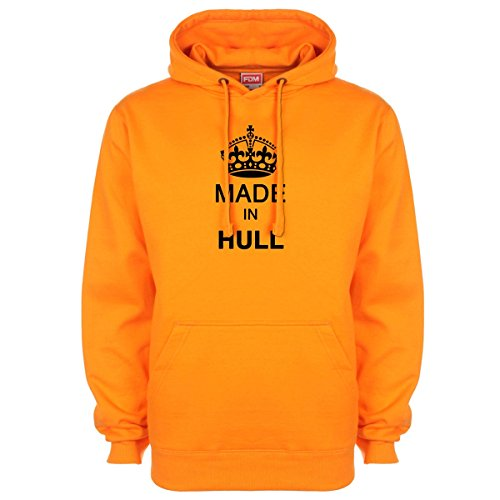 Made in Hull Hoodie - Orange - XX-Large (48-50 - Orange Hull Shop