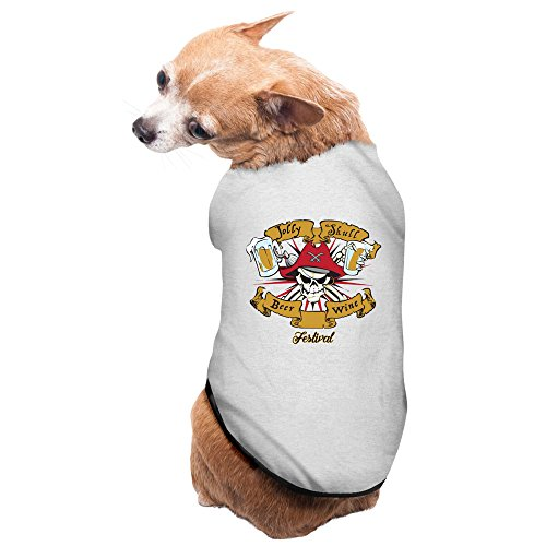 [Gray Jolly Skull Beer And Wine Festival North Carolina Pet Supplies Dog Costumes Puppy Vest] (Joni Mitchell Costume)