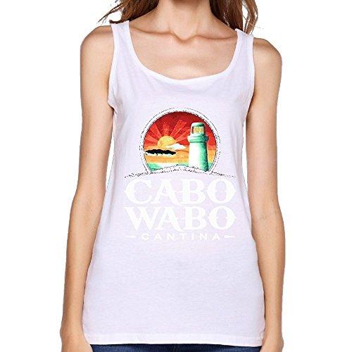 (Quliuwuda Women's Cabo Wabo Muscle Outdoor White Shirts L Tank Tops)