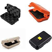 Outdoor Shockproof Waterproof Airtight Survival Storage Cases Containers Carry Boxes Bins Beige Orange Black 4pcs