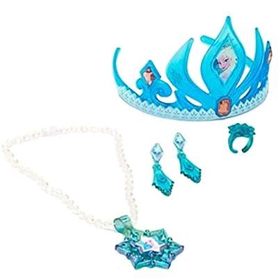 Disney Frozen Elsa Tiara and Jewelry Set: Toys & Games