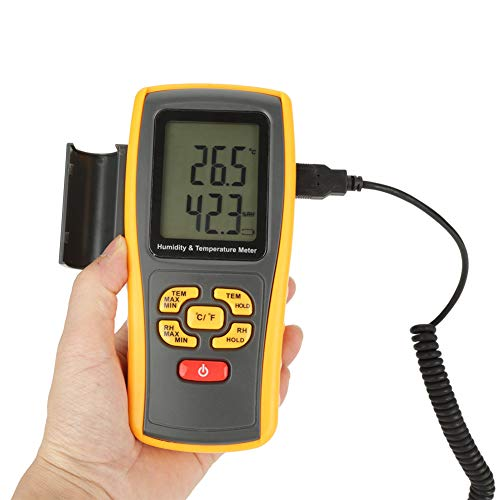 GM1361 Medidor digital de temperatura de humedad digital Termómetro higrómetro para la industria agrícola Meteorología -10 ℃ a 50 ℃ Tipo K -30 ℃ a 1000 ...