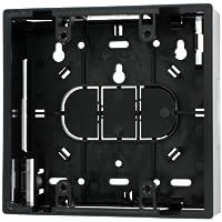 Leviton 42777-2EA Surface Mount Backbox, Dual Gang, Black, 1.89