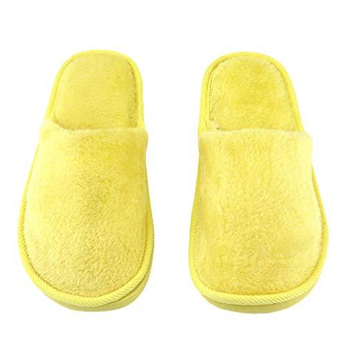 Femmes Slip Maison Semelle Pantoufle Anti Doux Semelle Peluche Hommes Chaud Chaussures Caoutchouc Silent Maison en Adulte Intérieur Maison Respirant en Coton Z0678q