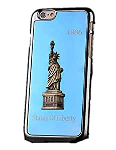 Statue of Liber 3d Ultra Thin Skin Case Cover Back for Apple Iphone 6 (Blue)