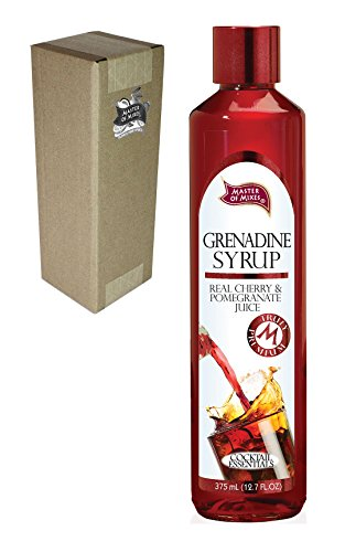 Master of Mixes Cocktail Essentials Grenadine Syrup, 375 ML Glass Bottle (12.7 Fl Oz), Individually Boxed (Mix Shirley)