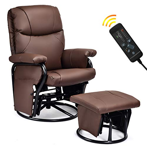 Giantex Glider Recliner with Ottoman