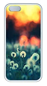 IMARTCASE iPhone 5S Case, Dandelions At Sunset Case for Apple iPhone 5S/5 TPU - White