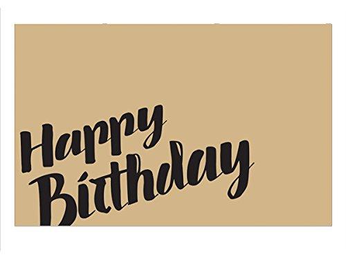 Happy Birthday Kraft 3-1/2x2-1/4 (50 Pack) by Nas