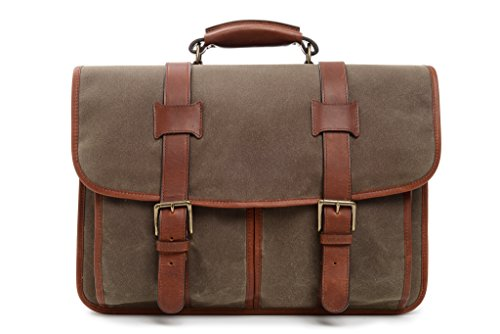 korchmar-garfield-16-waxed-canvas-bomber-bag-briefcase-f3005-olive