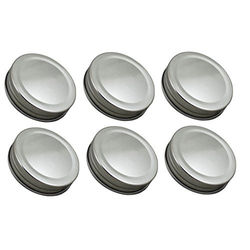 Sunshine Mason Co. One Piece Mason Jar Lids 6 Pieces, -