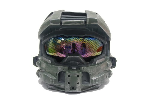 [Halo 4 Master Chief Helmet Mask, Full Size, Removelable Homeycomb Glass] (Full Halo Costumes)