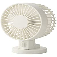 Life Origion Super Mute USB Angle Adjustable Cooling Desk Mini Fan with Two Blades White Color
