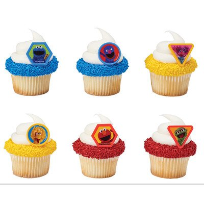 Sesame Street Giggle Together Cupcake Rings - 24 pc