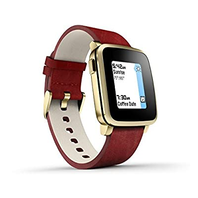 Pebble Time Steel Gold Deluxe Black Edition - Black (Certified Refurbished)