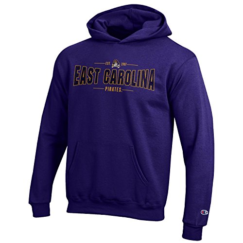 Champion NCAA Youth Long Sleeve Fleece Hoodie Boy's Collegiate Sweatshirt East Carolina Pirates Small