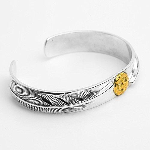 Daesar 925 Silver Bracelet For Men Opening Eagle Feathers Bracelet Silver by Daesar (Image #2)