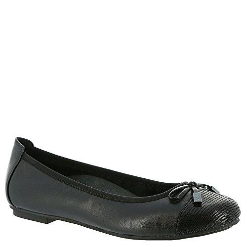 Vionic with Orthaheel Technology Women's Minna Ballet Flat,Black,US 11 M