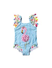 CQHY MALL Toddler Girls One-Piece Tankini Swimsuits Colorful Donuts Sprinkles/Swan/Pineapple/Eyelash Swimwear Bathing Suits