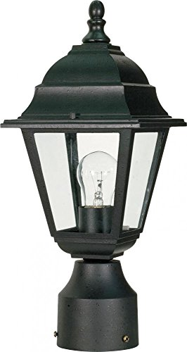 (Nuvo Lighting 60/548 One Light Lantern Post Mount, Black)